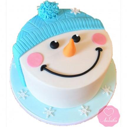 Торт праздничный снеговик №2749