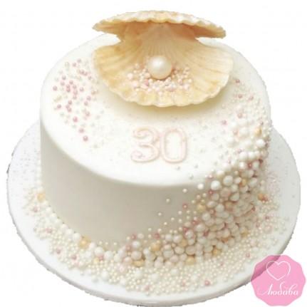 Торт праздничный на жемчужную свадьбу №2755