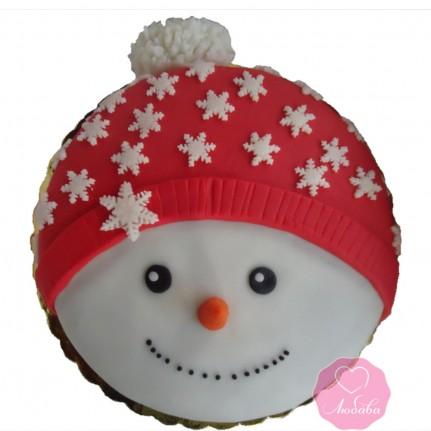 Торт праздничный снеговичок №2758