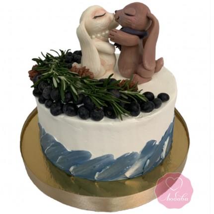 Торт праздничный жемчужная свадьба №2762