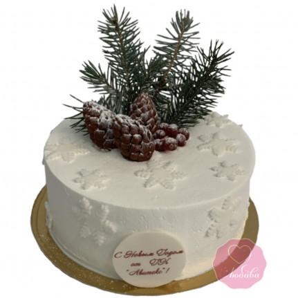Торт праздничный с елкой №2765