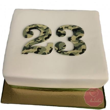 Торт на 23 февраля №2796
