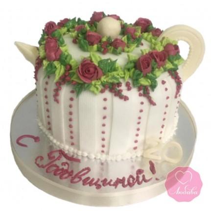 Торт на фарфоровую свадьбу №2856