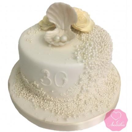 Торт на жемчужную свадьбу №2857