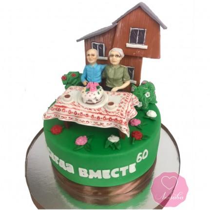 Торт на бриллиантовую свадьбу №2885
