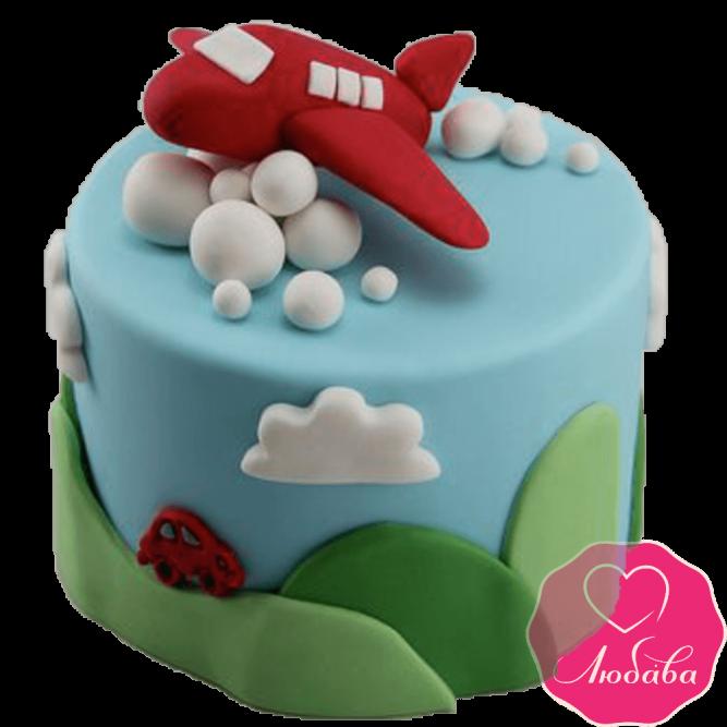Торт детский с самолетом №2149