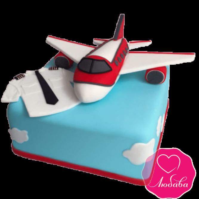 Торт детский с самолетом №2156