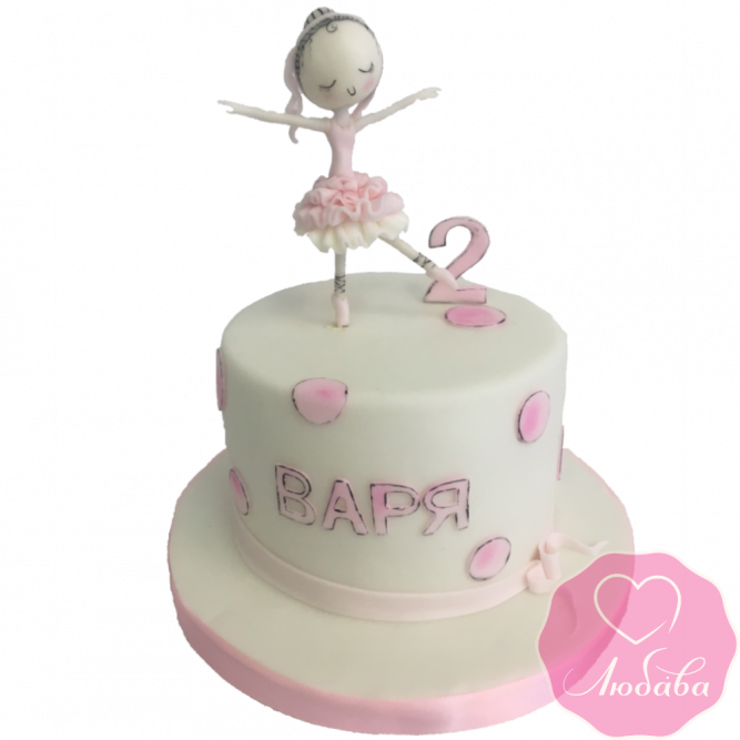 Торт детский балерина №2168