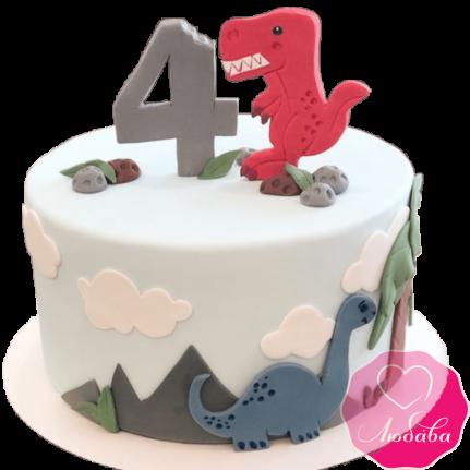 Торт детский с динозавриками №2169