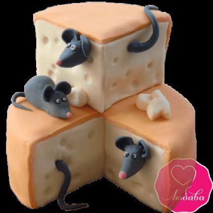 Торт детский с мышками №2174