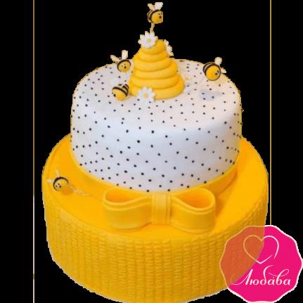 Торт детский с пчелками №2175