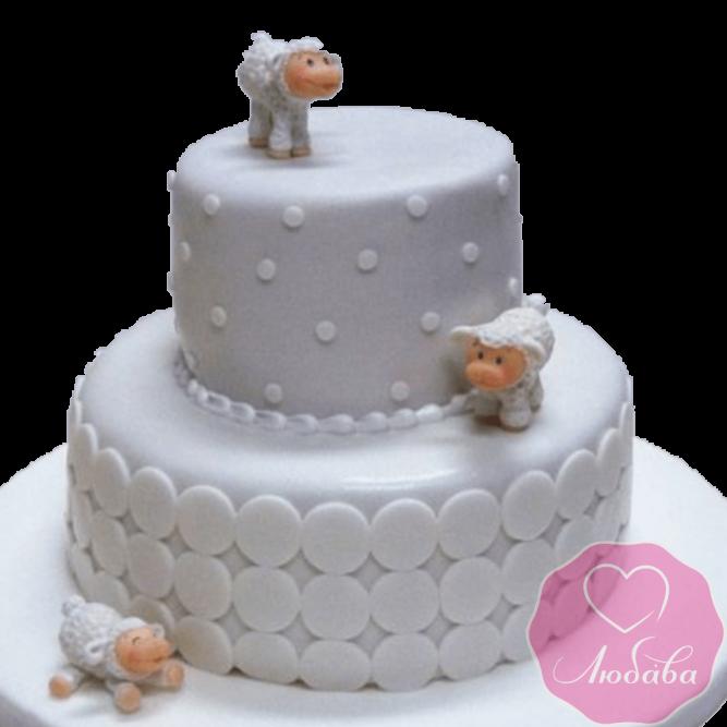 Торт детский с овечками №2176