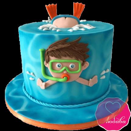 Торт детский дайвер №2177