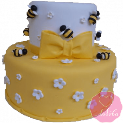 Торт детский с пчелками №2181