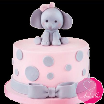 Торт детский со слоном №2198