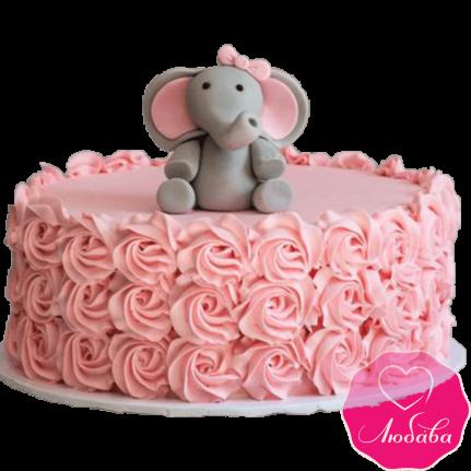 Торт детский со слоником №2199