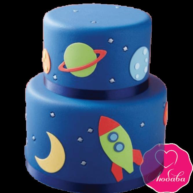 Торт детский космос №2230