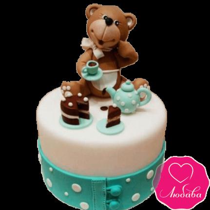 Торт детский с медвежонком №2231