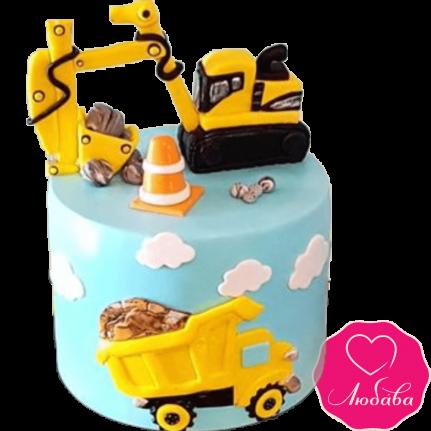 Торт детский с экскаватором №2248