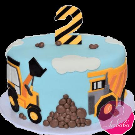 Торт детский с самосвалом №2249