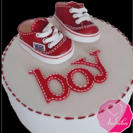 Торт детский мальчику с кедами №2251