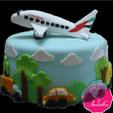 Торт детский самолет №2255