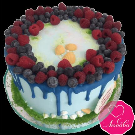 Торт детский ягодный с ракушками №2256