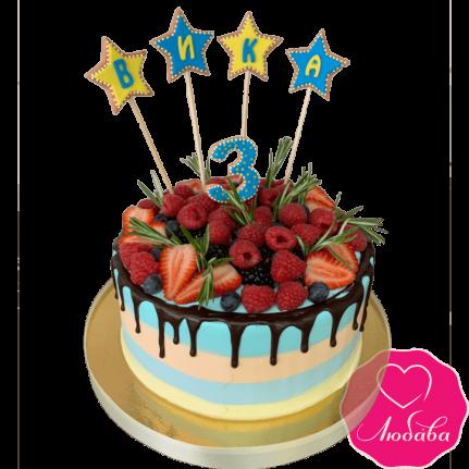 Торт детский с ягодами №2257