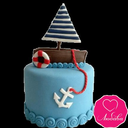 Торт детский парусник №2264
