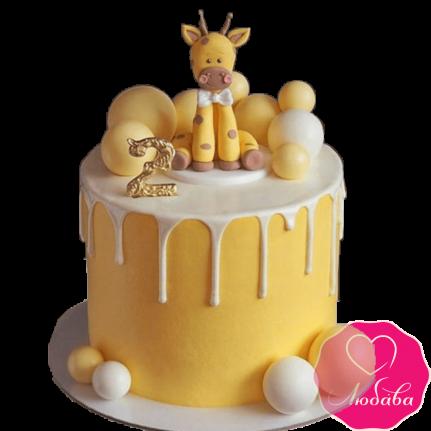 Торт детский с жирафом №2270