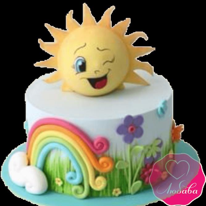 Торт детский солнышко №2272