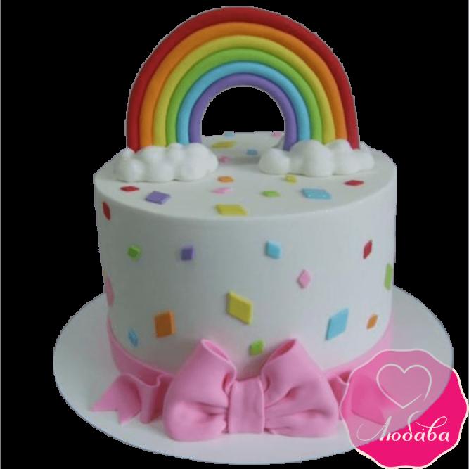 Торт детский радуга №2273