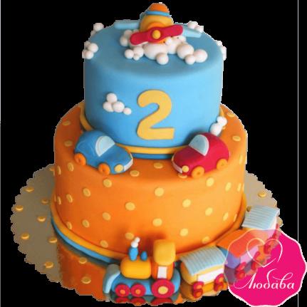 Торт детский с игрушками для мальчика №2275