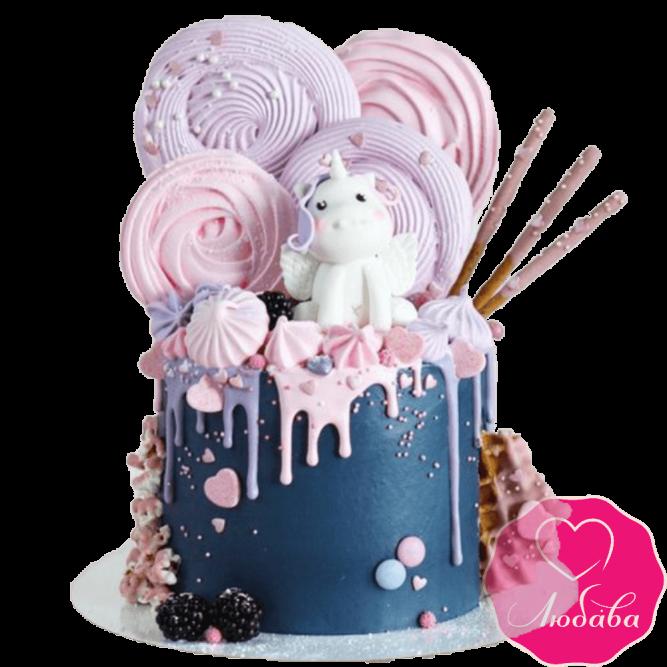 Торт детский единорог №2286