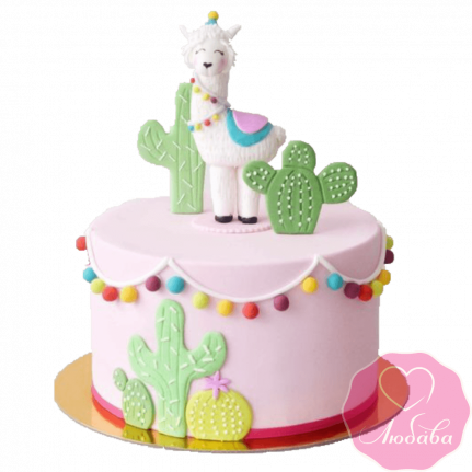 Торт на день рождения с альпакой №2290