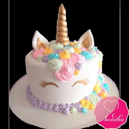 Торт детский единорог №2291