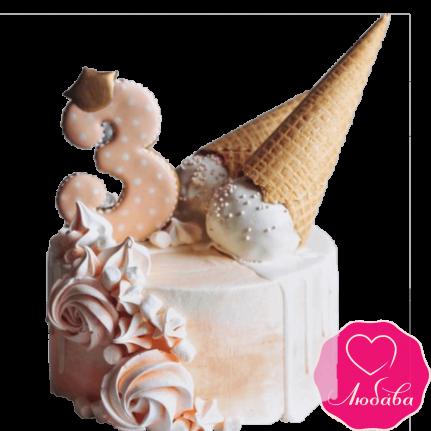 Торт детский с мороженым №2293