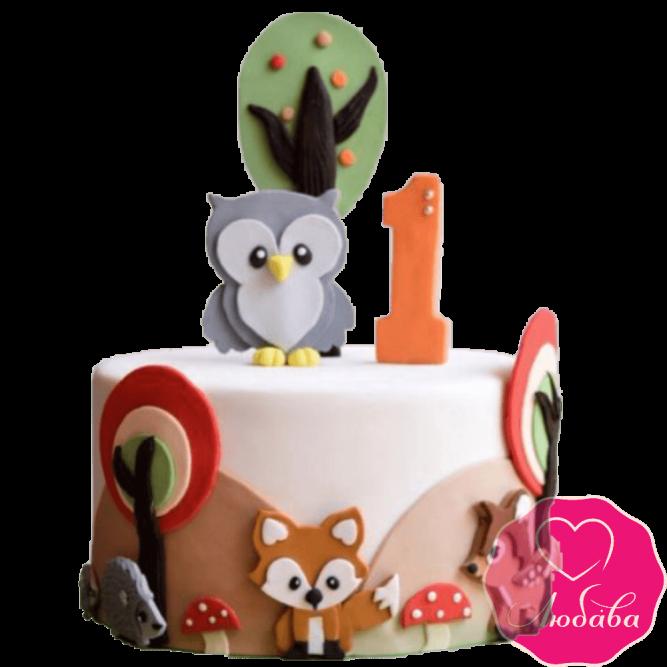 Торт детский с совой №2299