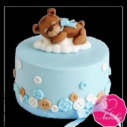 Торт детский мишка на облаке №2300