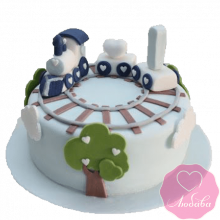Торт детский паровозик №2301