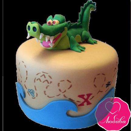 Торт детский с крокодилом №2304