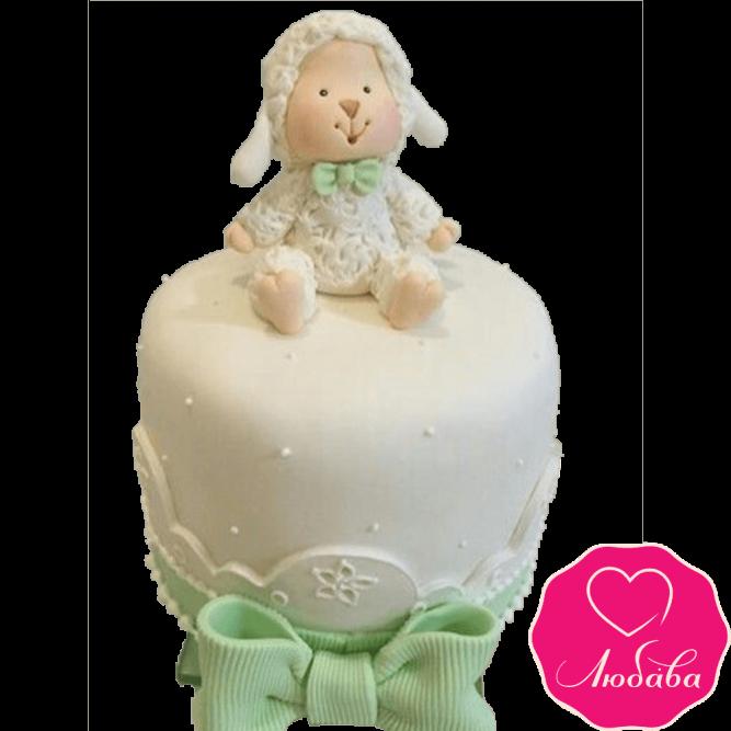 Торт детский овечка №2306