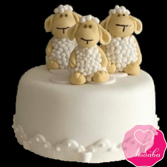 Торт детский овечки №2307