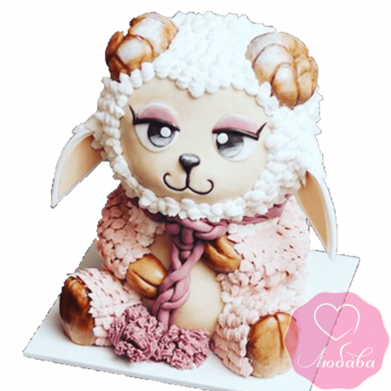 Торт детский овечка №2309