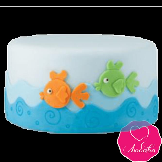 Торт детский с рыбками №2310