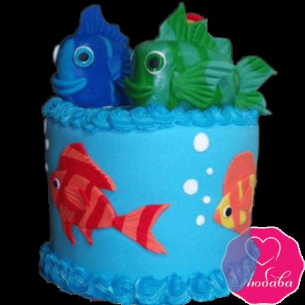 Торт детский рыбки №2311
