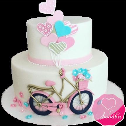 Торт детский с велосипедом №2316