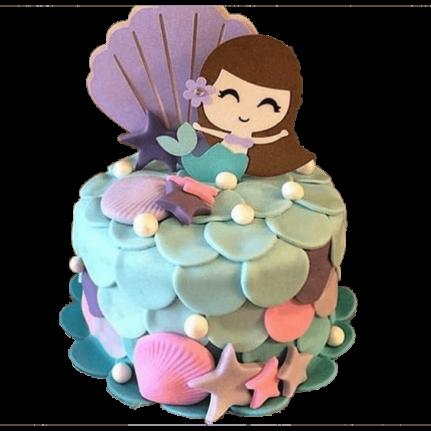 Торт детский русалка №2349