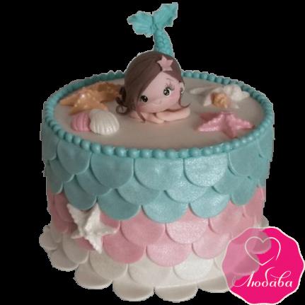 Торт детский с русалкой №2350