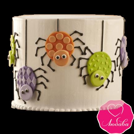 Торт детский с паучками №2383